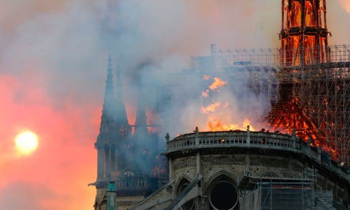 Fires Outbreak Guts Notre-Dame Cathedral In Paris 1