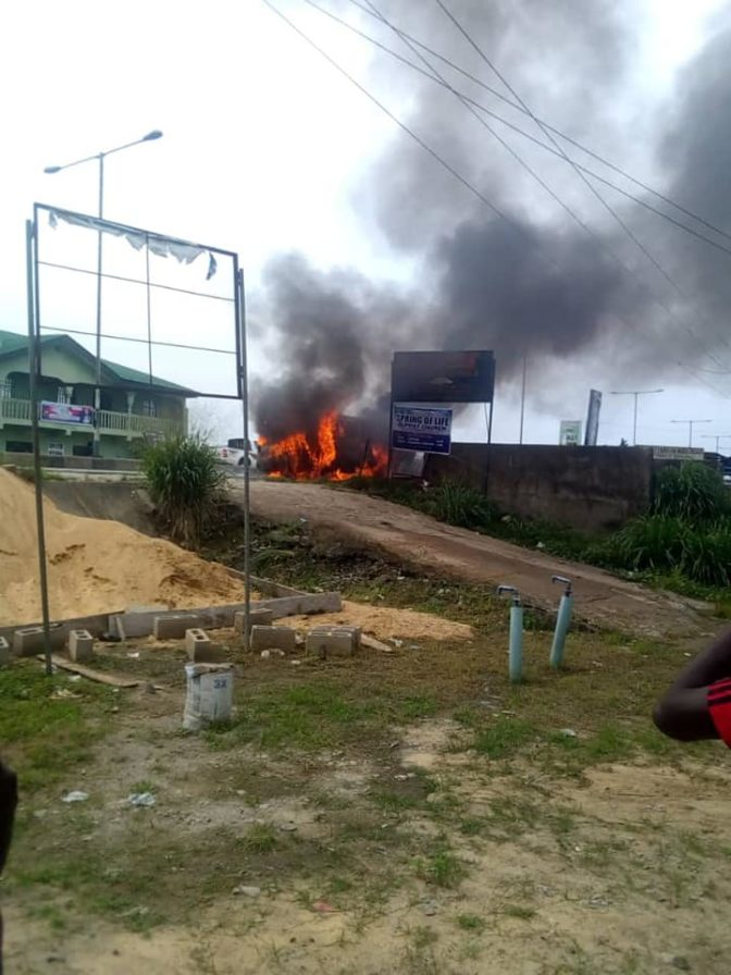 School Bus Carrying 18 Children Goes Up In Flames In Bayelsa 2