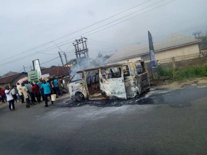 School Bus Carrying 18 Children Goes Up In Flames In Bayelsa 3