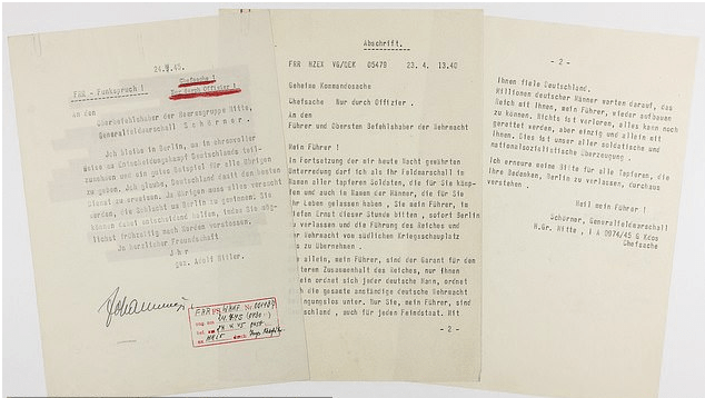 Auction: Adolf Hitler's Suicide Note Where He Expressed His Refusal To Leave Berlin Surfaces 2
