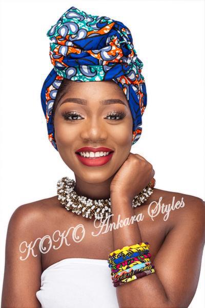 Ankara Styles: Five Eccentric Ankara Headwraps That Are Fashionable And Chic 2