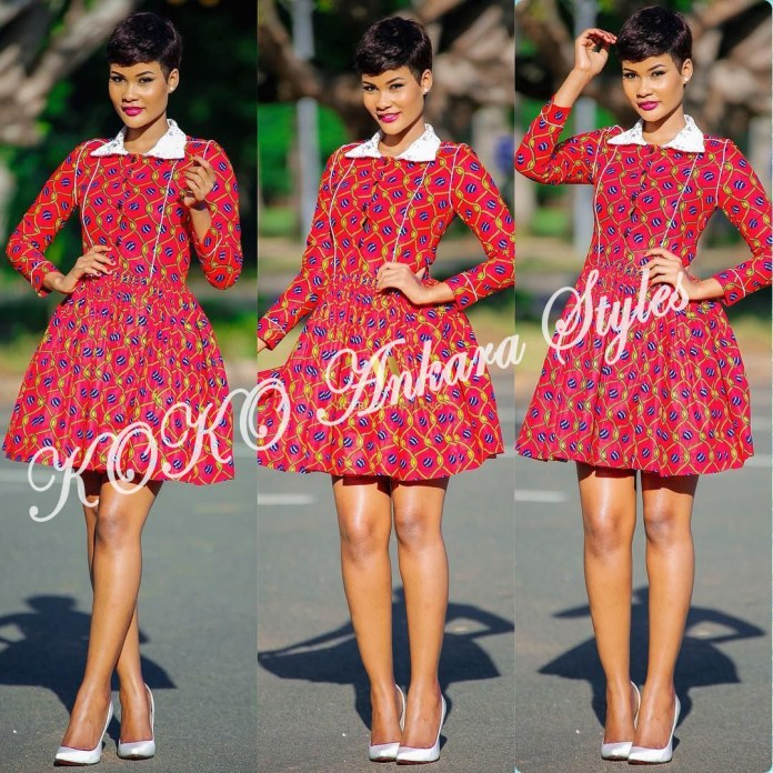 Ten Ankara Styles That Proves That Skater Dresses Are Still As Cool As Ever 4
