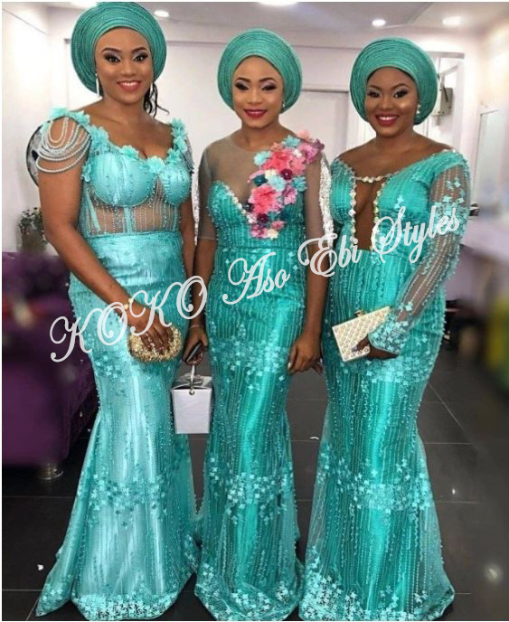 Five Sea-green Aso-ebi Styles That Are Too Gorgeous To Ignore 4