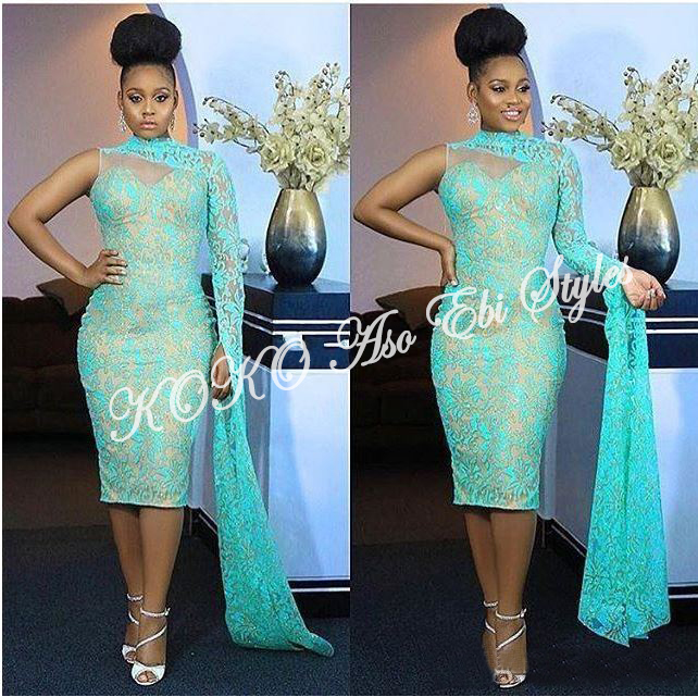 Five Sea-green Aso-ebi Styles That Are Too Gorgeous To Ignore 2