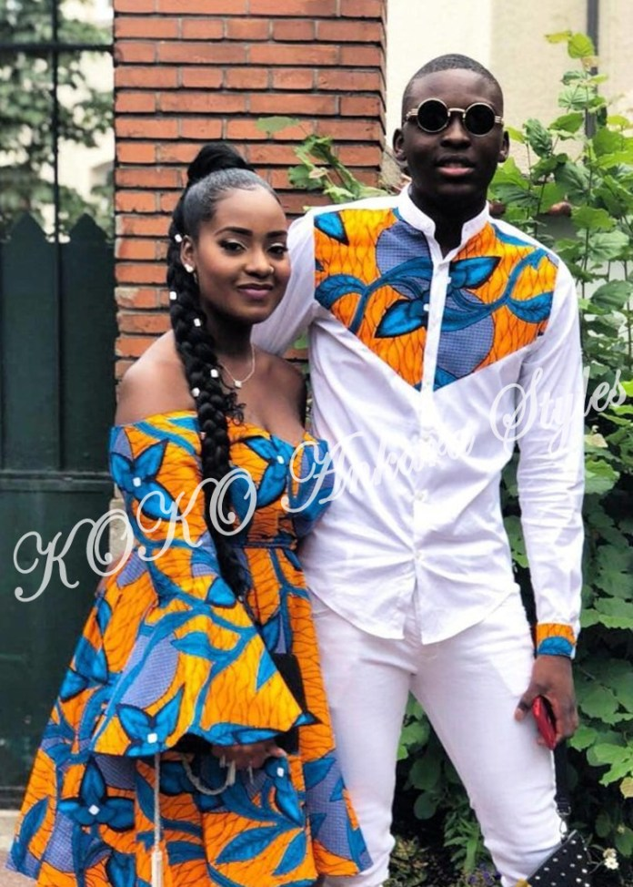 Couple It Up In These 10 Extremely Gorgeous Co-ordinating Ankara Styles 8
