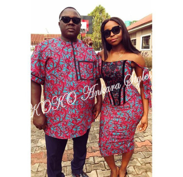 Couple It Up In These 10 Extremely Gorgeous Co-ordinating Ankara Styles 5