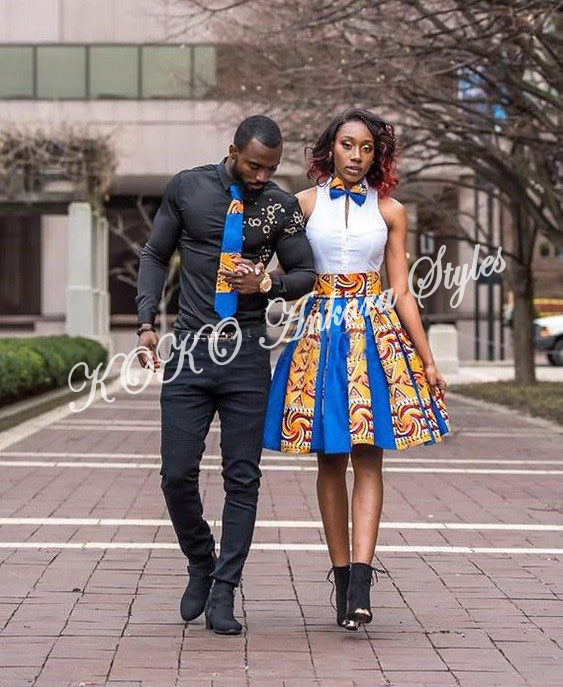 Couple It Up In These 10 Extremely Gorgeous Co-ordinating Ankara Styles 3