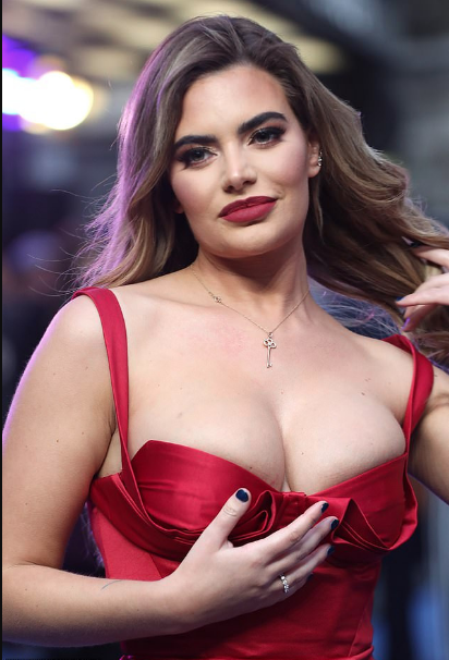 Plastic Surgery Truly Made Her Happier! Meghan Barton Flaunts Ample Boobs In Red Dress 2