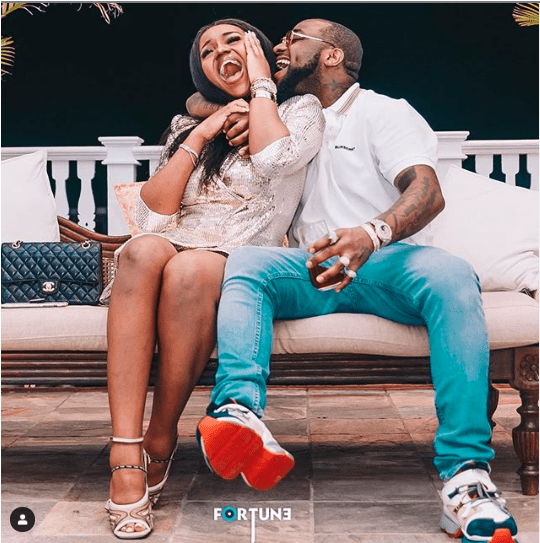 Could She Be Pregnant? See The Lovely Photo Of Davido And Chioma That Has Got Tongues Wagging 2