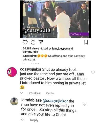 Mini Pricked Pastor! Cossy Ojiakor Savagely Drags Apostle Suleiman And His Manhood On Social Media 3