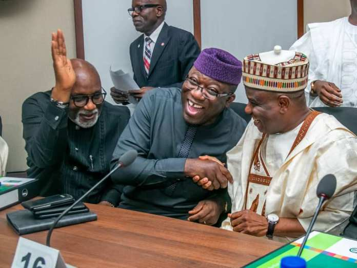 Photos: Kayode Fayemi Elected Nigeria's Governor's Forum Chairman {NGF} 2