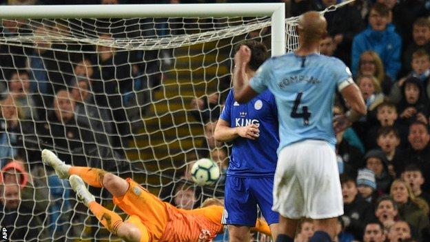 Vincent Kompany Screamer Against Leicester Puts Manchester City On Brink of Title 1