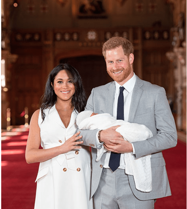 Breaking: The Duke And Duchess Of Sussex Withholds Baby Name As They Introduce Their Adorable Baby To The World! 3