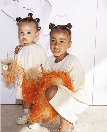 KOKOnista! Check out The Viral Photos Of North West Rocking Her Mother's Stilettos At True Thompson's Birthday 1