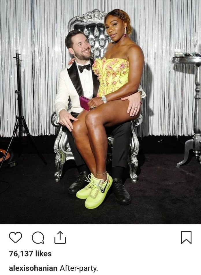 Love In The Air! Alexis Ohanian Shares Loved Up Photo Of Him And Serena At The Met Gala After-party 2