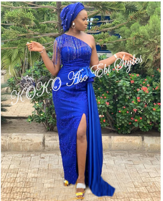 Slit Slay! Stun Gorgeously In These Five Aso-ebi Designs With Awesome Slits 1