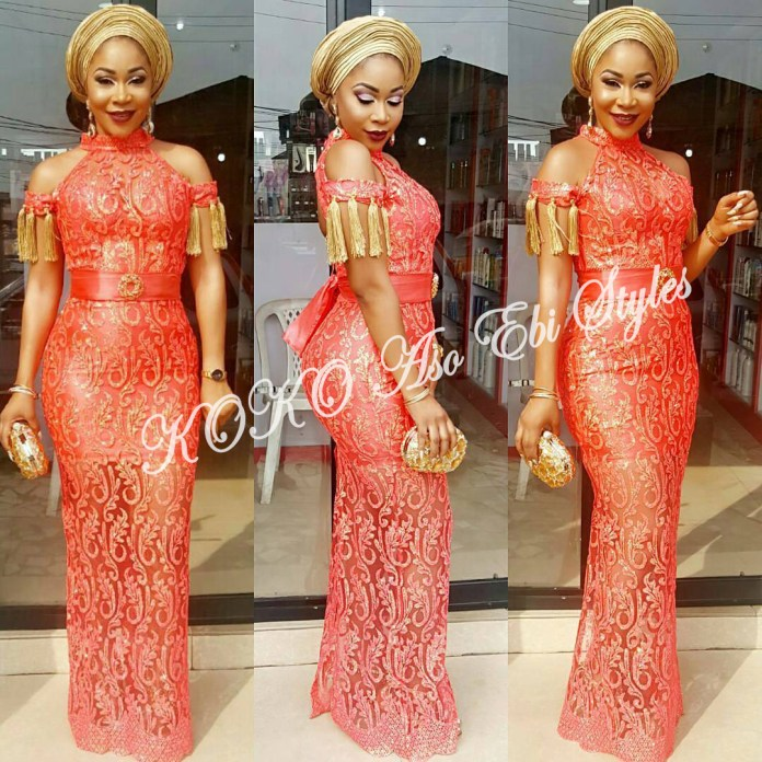 Beautiful! You Need To See These Five Extra Gorgeous And Stylish Aso-ebi Styles 1