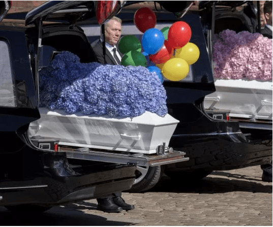 The Insider: Photos From The Burial Of Asos Billionaire's Three Children Who Were Laid To Rest Yesterday 2