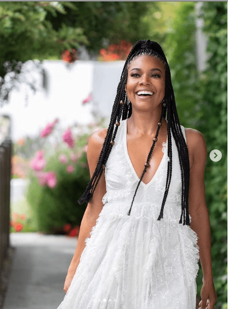Gabrielle Union-Wade Is The Stunning Queen In A White Dress 1