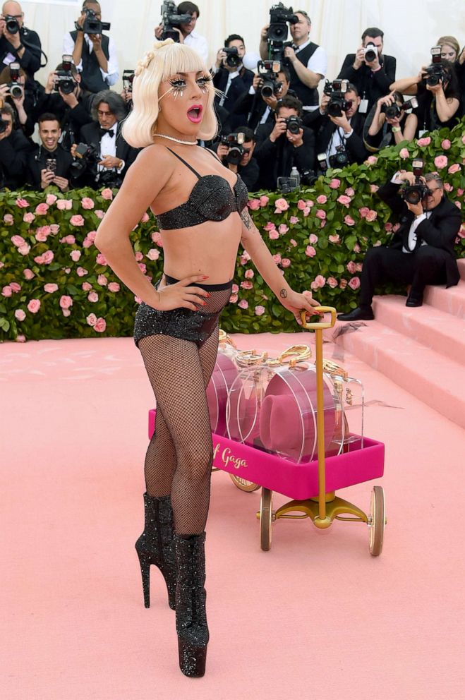 #MetGaga! Lady Gaga Steals The Show With Four Daring Outfits On 2019 Met Gala Red Carpet 6
