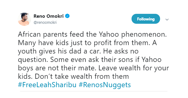 African Parents Fed The Yahoo Phenomenon - Reno Omokri 2