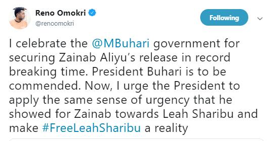 Reno Omokri Reminds FG About Leah Sharibu, Urged Buhari To Apply The Same Sense Of Urgency 2
