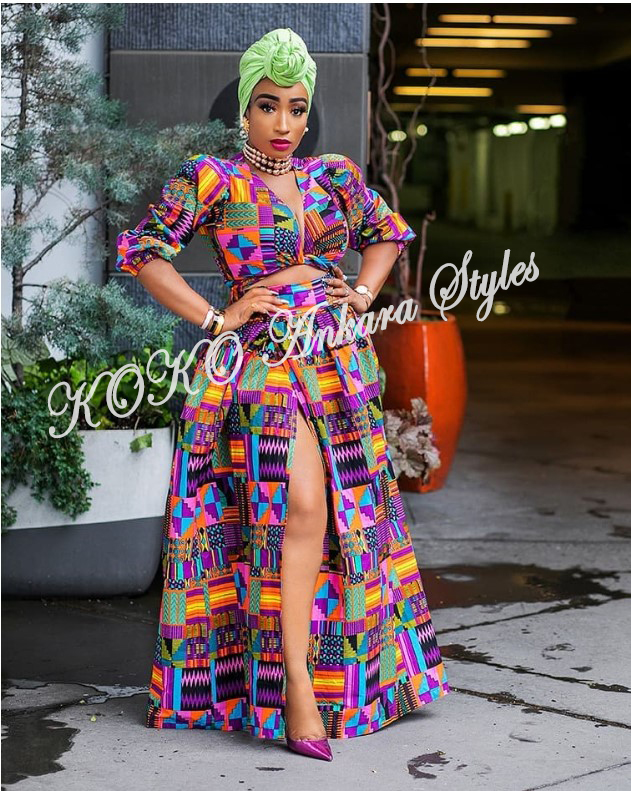 Flaunt Your Hot Legs In These 5 Ankara Thigh-High Slit Styles 3