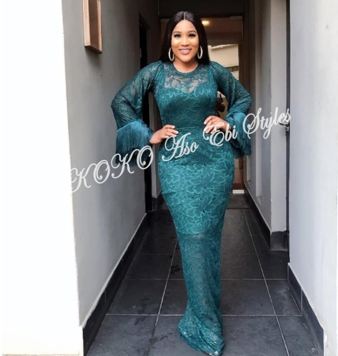 Bring On The Stunning In Lovely Green Aso-ebi Designs At Your Next Owanbe 10