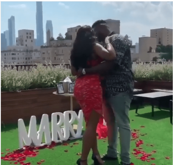 She Said Yes! Davido's Brother, Adewale Proposes To The Love Of His Life 1