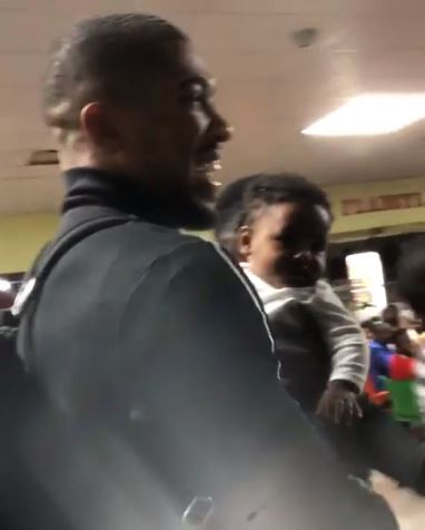 (Video) Anthony Joshua Arrives Lagos With His Cute Son, JJ 2