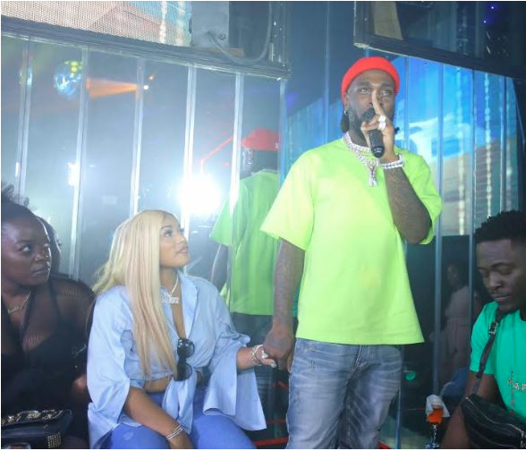 Stefflon Don Is All Lovey-Dovey With Burna Boy As She Couldn't Take Her Eyes Off Him At His Birthday Bash 4