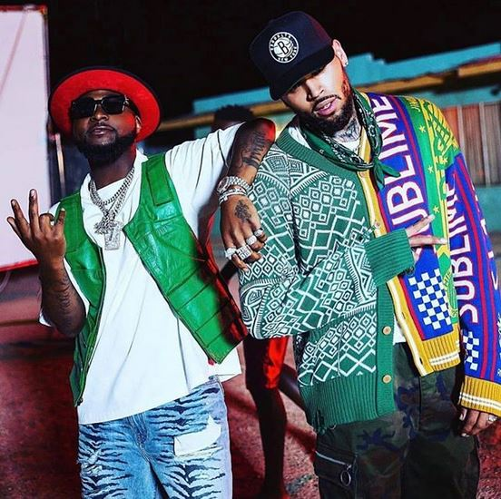 Is He Overdoing? Davido Gushes About Chris Brown Dancing In The Rain For Blow My Mind