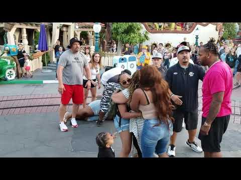 Children Scream As Men Punch Women In The Face During Disneyland Brawl 1