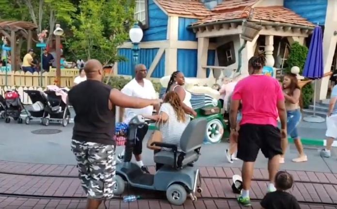 Children Scream As Men Punch Women In The Face During Disneyland Brawl 5