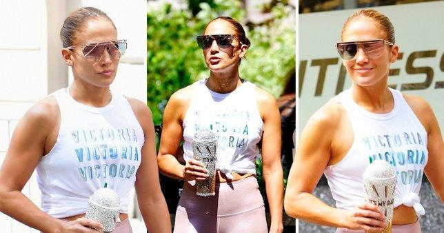 Jennifer Lopez muscles, biceps, fitness