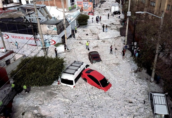 'Biblical' Hailstorm Buries House, Cars And Turns Streets Into Rivers In Mexico 4