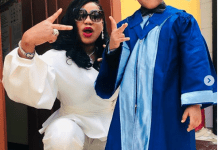 Toyin Lawani and Son, Jermaine