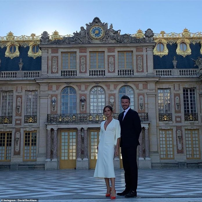 Victoria Beckham Tours Palace Of Versailles In A White Midi-dress As She Celebrates 20 Years Wedding Anniversary With Hubby, David Beckham 3