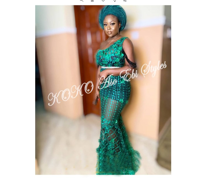 Bring On The Stunning In Lovely Green Aso-ebi Designs At Your Next Owanbe 6