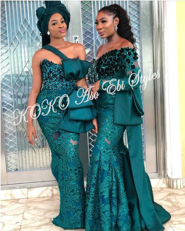 Bring On The Stunning In Lovely Green Aso-ebi Designs At Your Next Owanbe 1