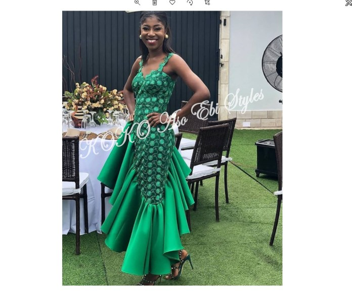Bring On The Stunning In Lovely Green Aso-ebi Designs At Your Next Owanbe 5