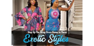 Ankara Styles: Step Up The Wrap Dress Game In These Exotic Styles