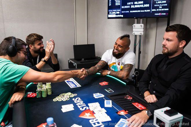 Barcelona Stars Pique And Vidal Scoop 500k In Pro Poker Tournament