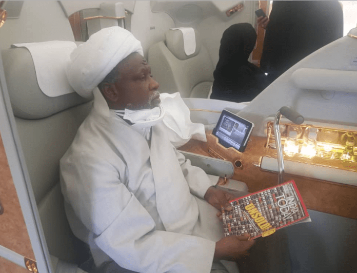 Leader Of IMN, El Zakyzaky And Wife Arrive In India For Treatment 1