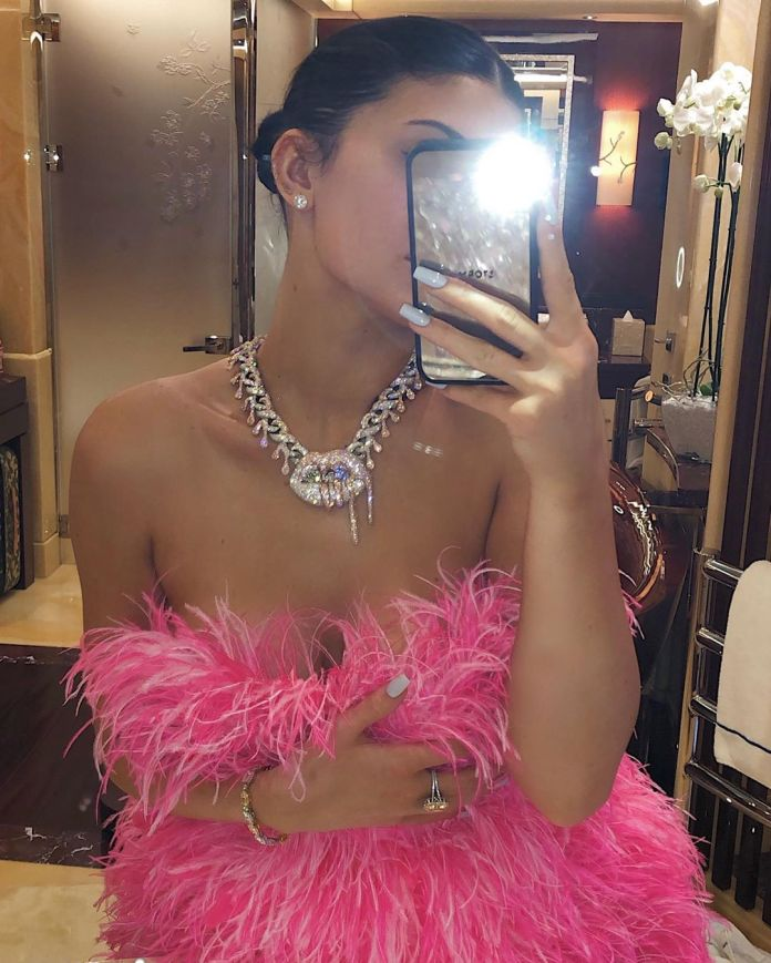 Kylie Jenner Is Hot In Feathery Mini Dress As She Celebrates 22nd Birthday
