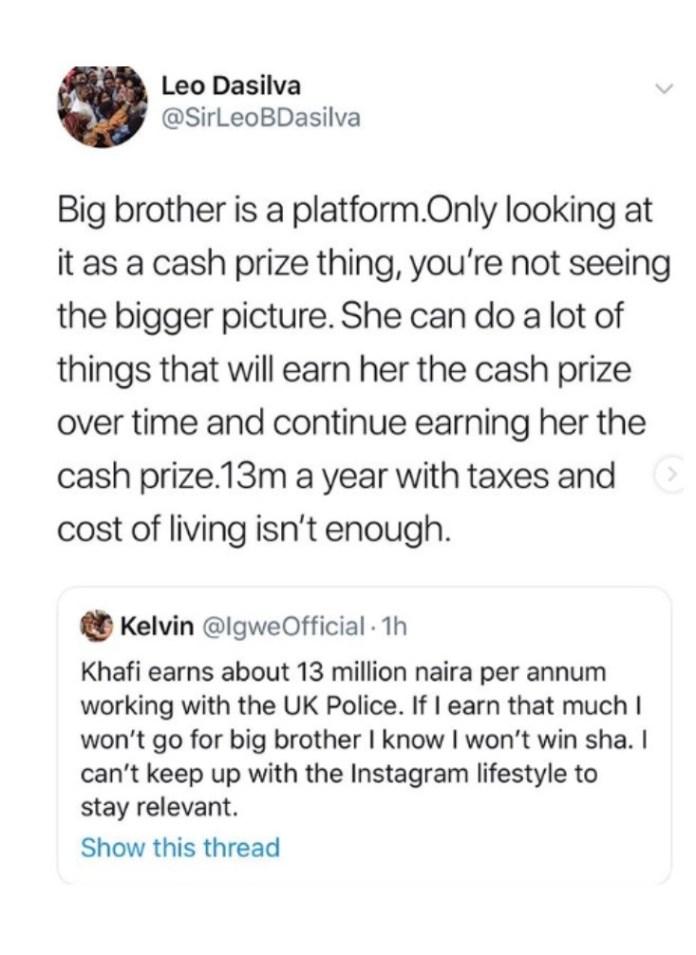 'N13m Is Not A Lot Of Money'- Leo Dasilva Defends Khafi Over Police Job Scandal 2