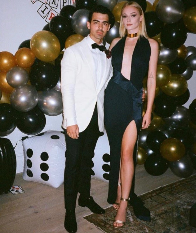 Priyanka And Nick Jonas Steps Out In Fab Black Style For Joe's James Bond Themed Birthday Party 2