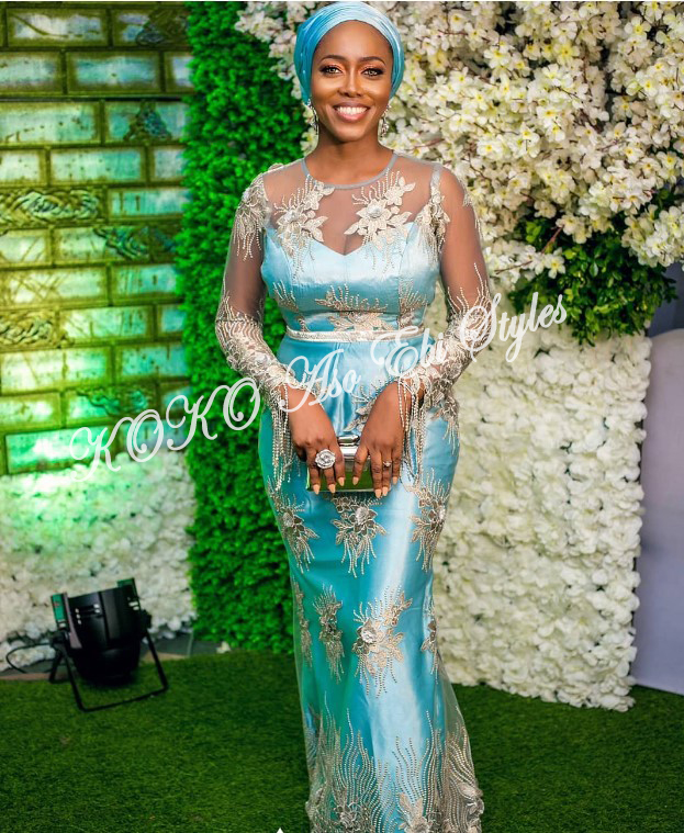 Knock Them Out In These 5 Extra Gorgeous Aso-ebi Slay 5