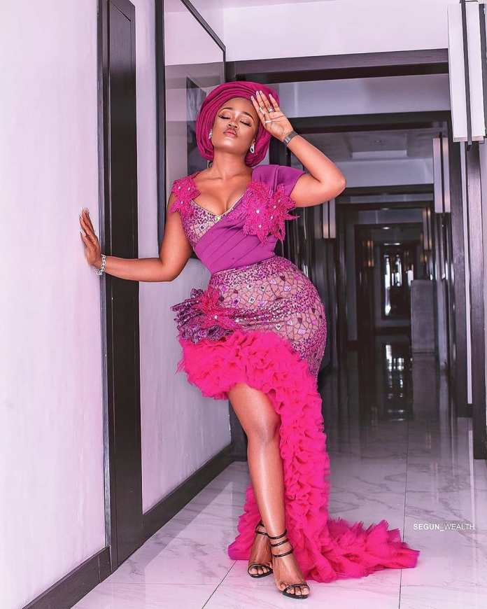 Cee-C Stuns In Gorgeous Pink Aso-ebi At BamBam And Teddy A's Introduction 3
