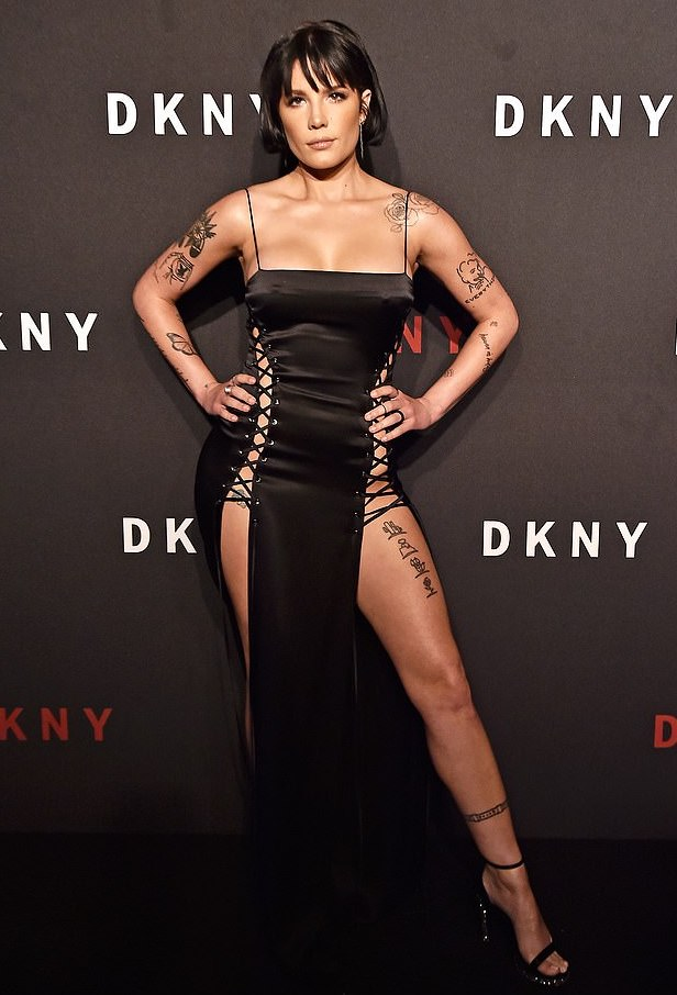 Halsey Wows In A Racy Black Lace Dress At NYFW 1